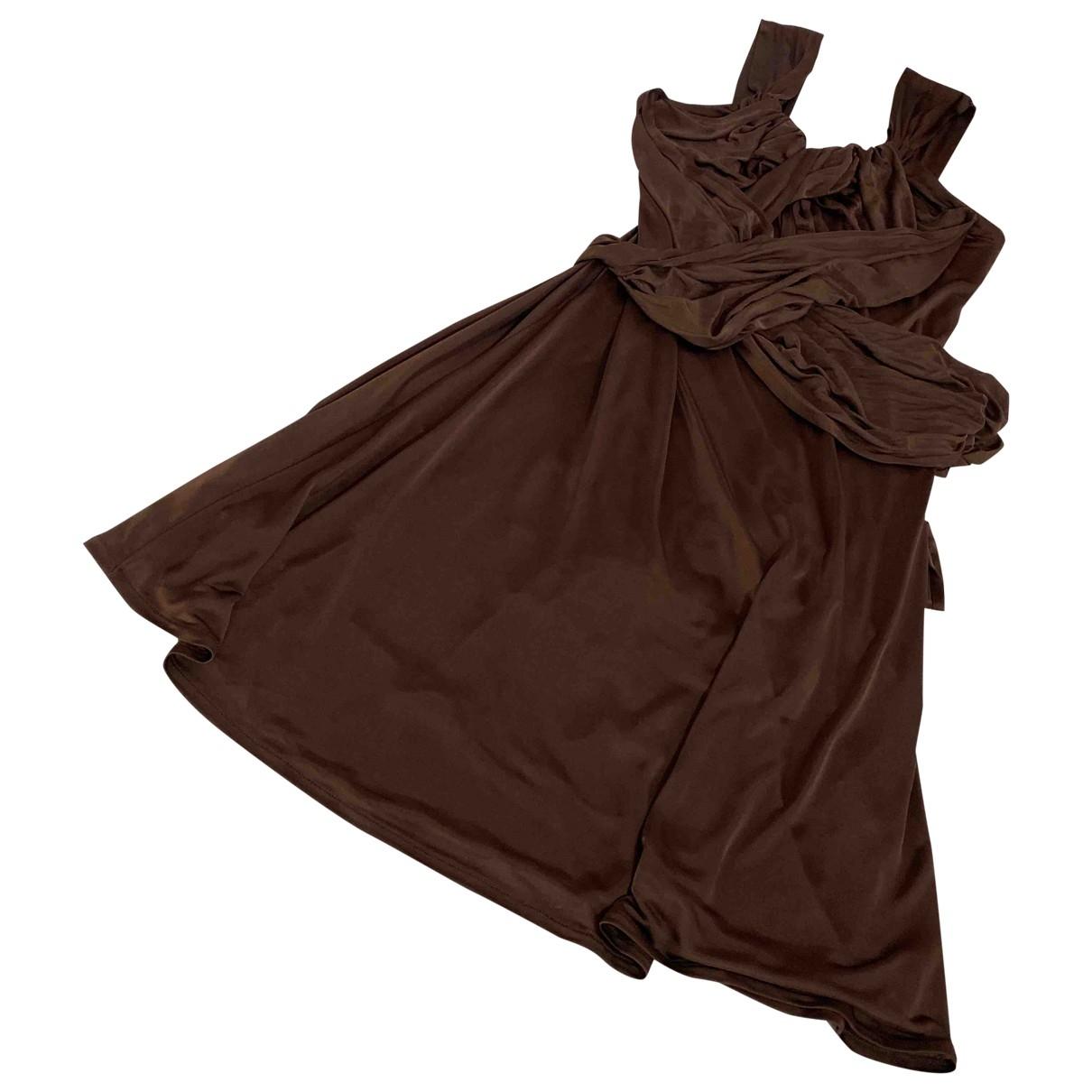 Valentino Garavani \N Brown dress for Women 40 IT