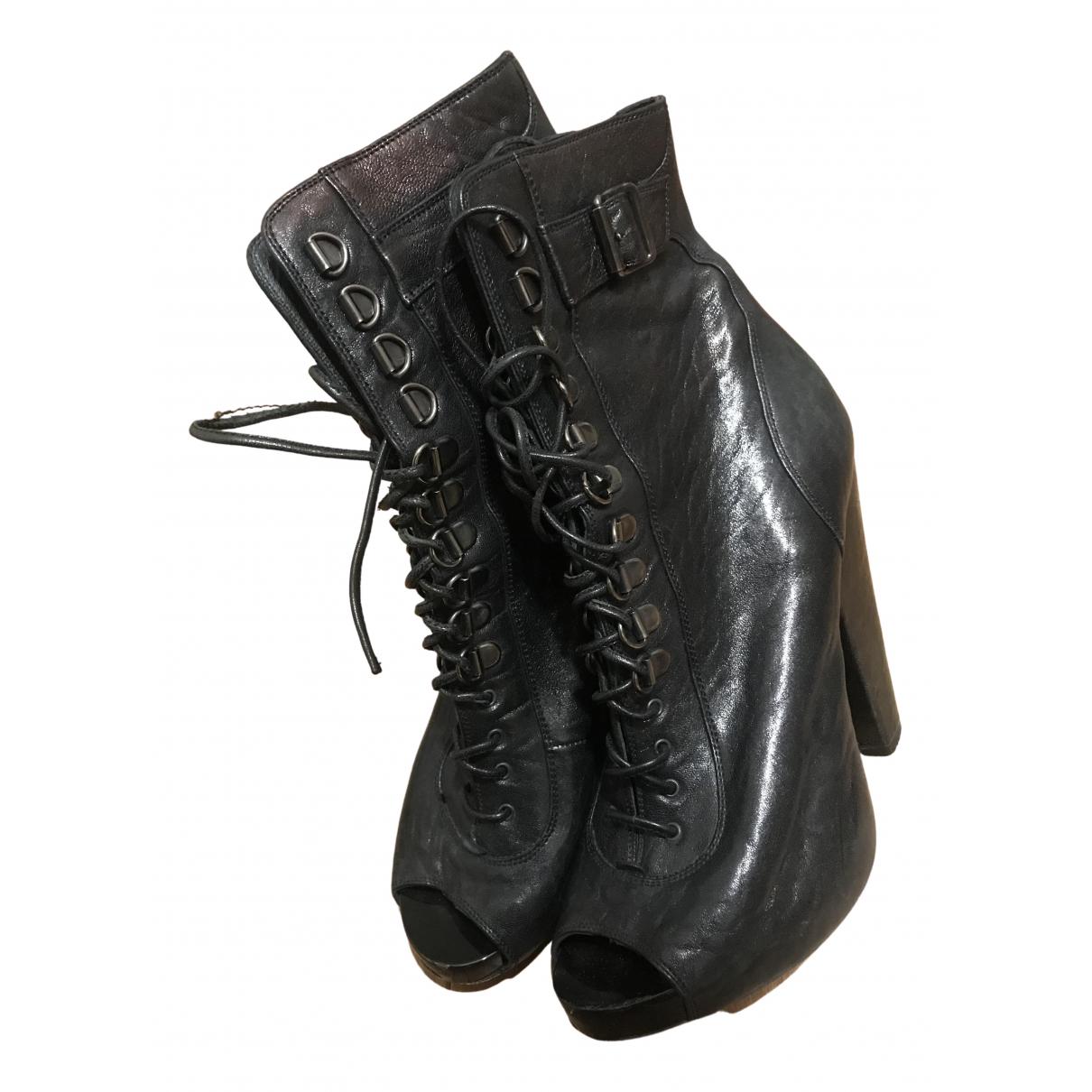 Givenchy \N Black Leather Boots for Women 38.5 EU