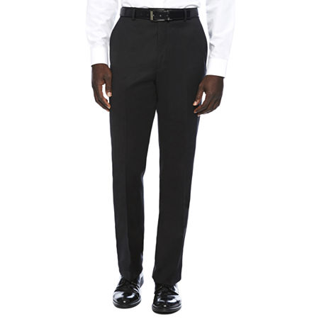 Stafford Travel Wool Blend Stretch Classic Fit Suit Pants, 40 34, Black