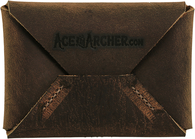 Envelope Wallet Cheyenne Soft Brown Leather Wallet for Men - Brown