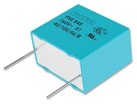 KEMET 470nF Polypropylene Capacitor PP 1.5 kV dc, 600 V ac, 760 V ac ±20% Tolerance Through Hole PHE845 Series (4)