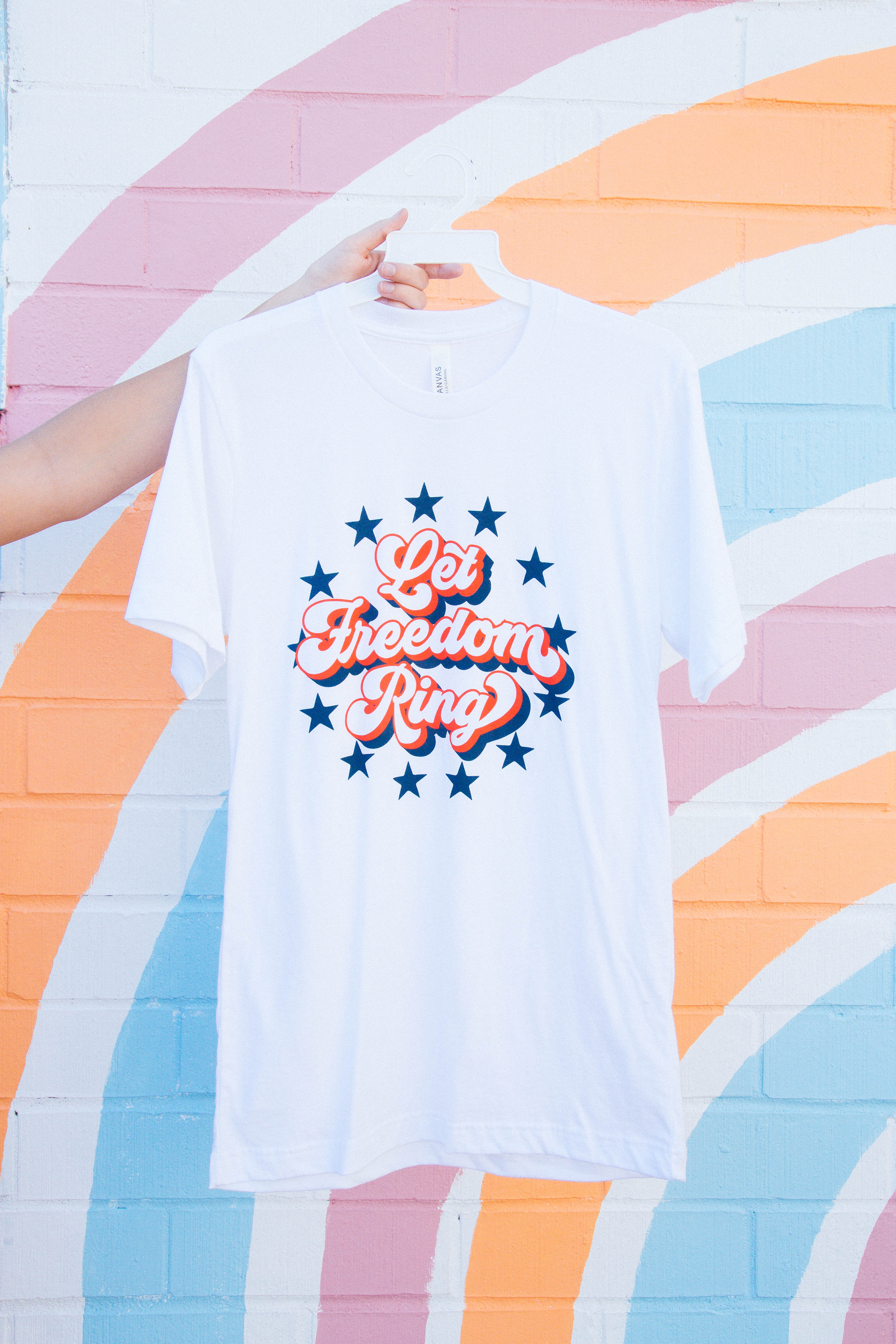 Let Freedom Ring Graphic Tee White