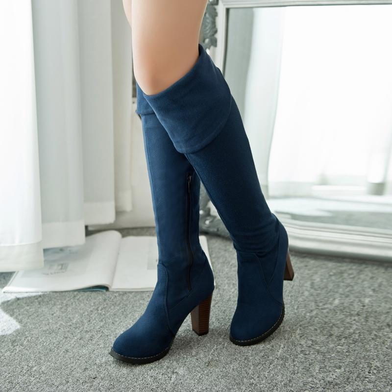 Ericdress Fashion Chunky Heel Knee High Boots