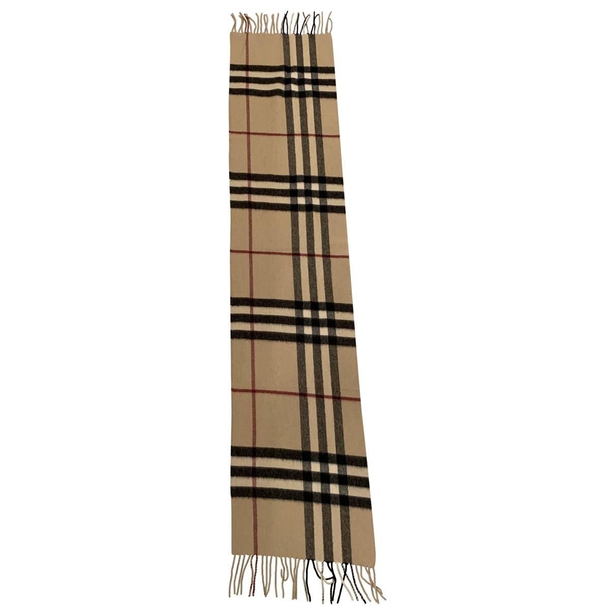 Burberry \N Beige Cashmere scarf for Women \N