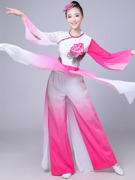 Milanoo Traditional Dance Chinese Costumes Asian Women Carnival Costumes