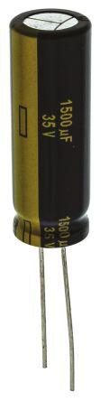 Panasonic 1500μF Electrolytic Capacitor 35V dc, Through Hole - EEUFC1V152L (5)