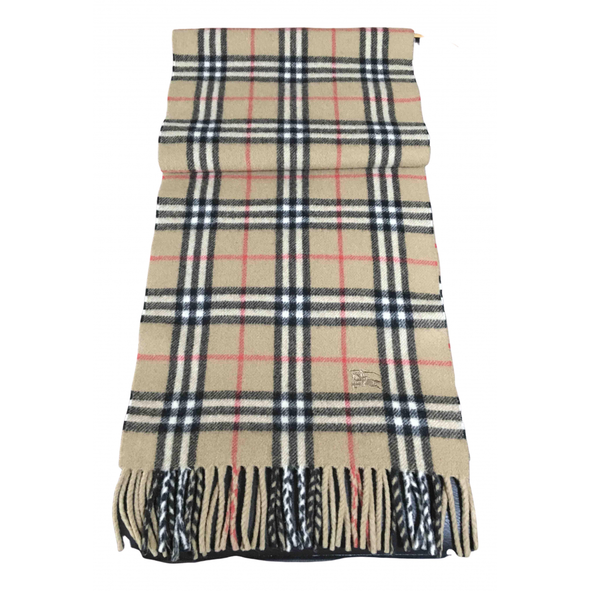 Burberry \N Camel Wool scarf & pocket squares for Men \N