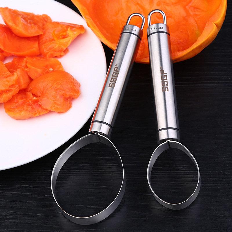 KCASA KC-PS026 Stainless Steel Vegetable Fruit Melon Corer Seed Dig Pulp Separator Slicer Peeler