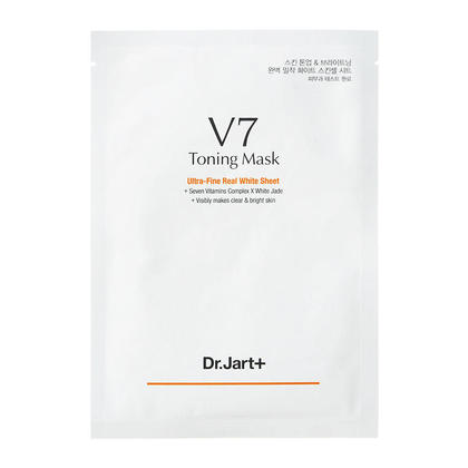 Dr Jart + V7 Mask Toning Mask Masque ultra-fin en feuille blanche 30g 1Pc