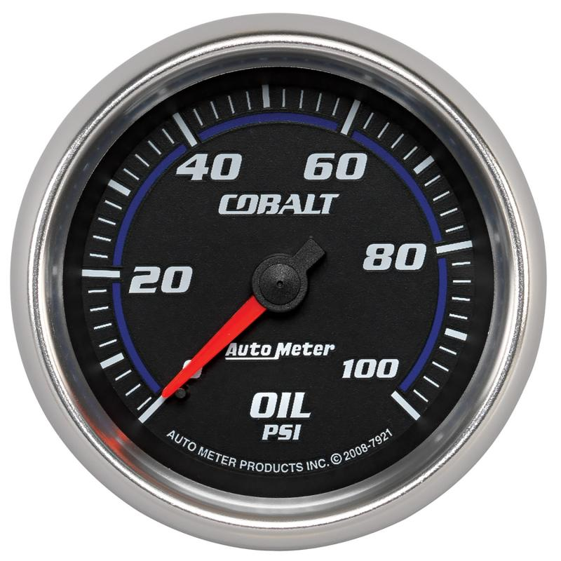 AutoMeter GAUGE; OIL PRESSURE; 2 5/8in.; 100PSI; MECHANICAL; COBALT