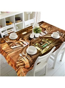 Luxury European Style Palace Prints Design Washable 3D Tablecloth