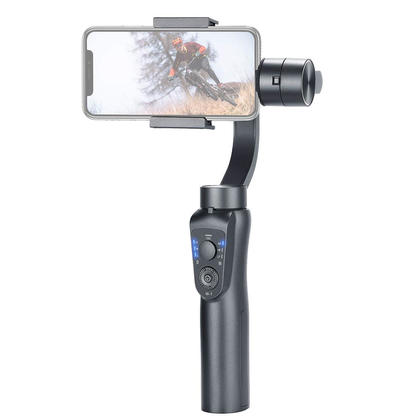 Gimbal 3-Axis Handheld Smart Phone Camera Stabilizer with Zoom Control Auto Tracking - PrimeCables®