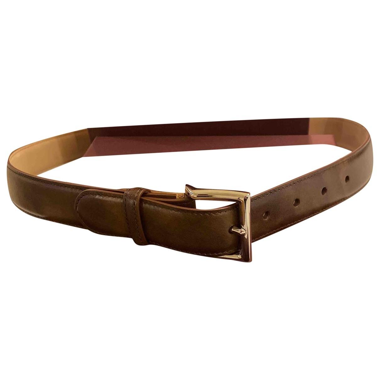 John Lobb \N Brown Leather belt for Men L international