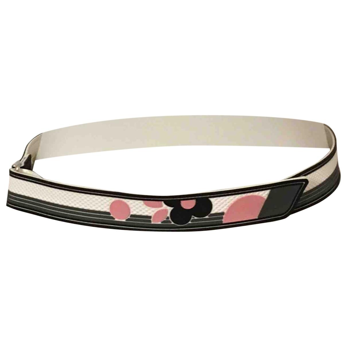 Prada \N Grey Leather belt for Women 80 cm