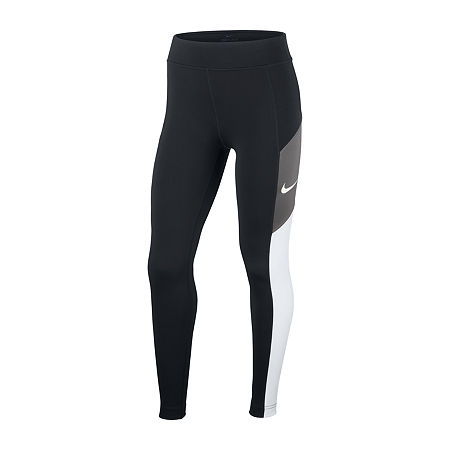Nike Big Girls Mid Rise Legging, Medium Plus , Black