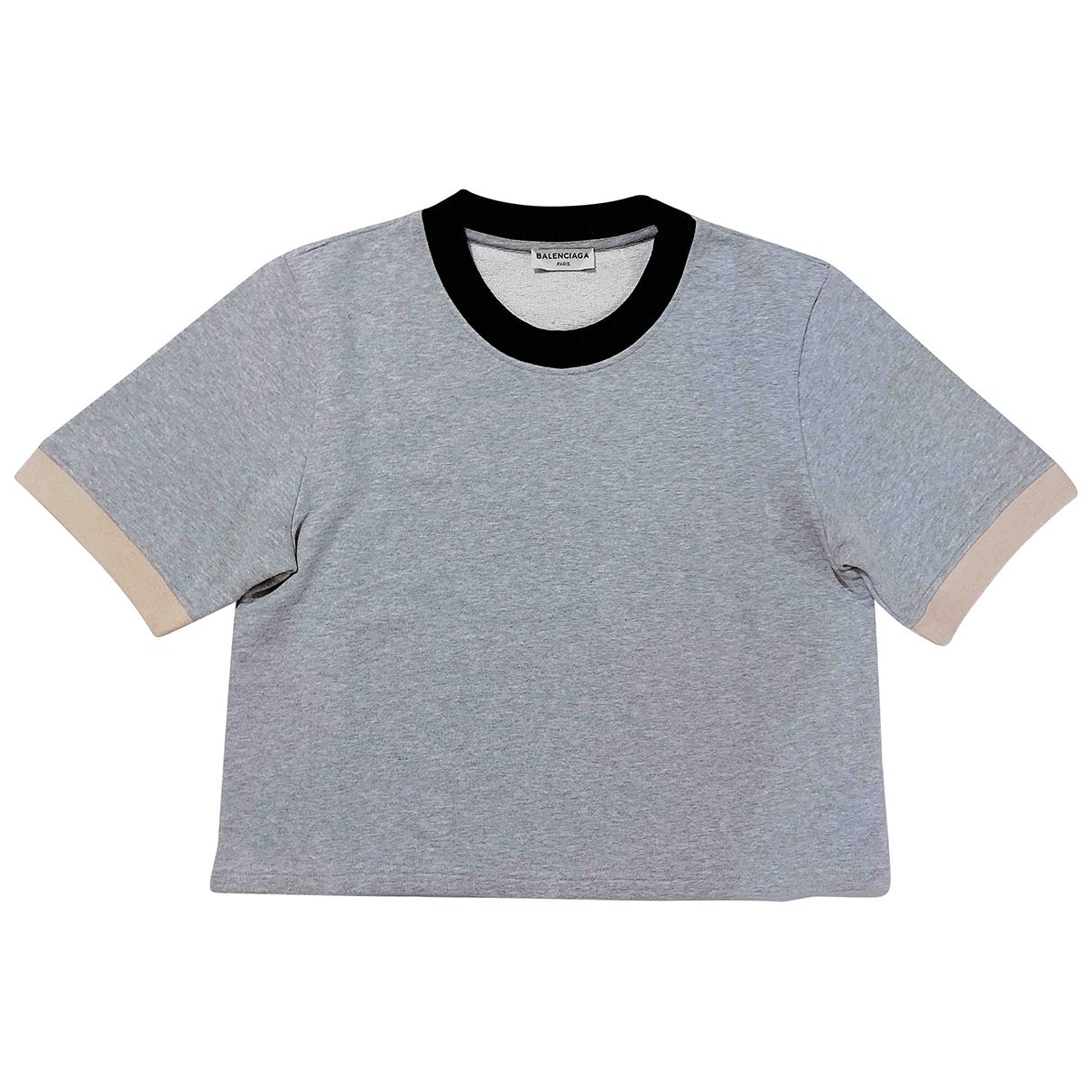 Balenciaga \N Grey Cotton  top for Women L International