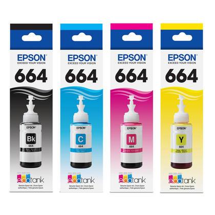 Epson T664 cartouche d'encre orginale BK/C/M/Y