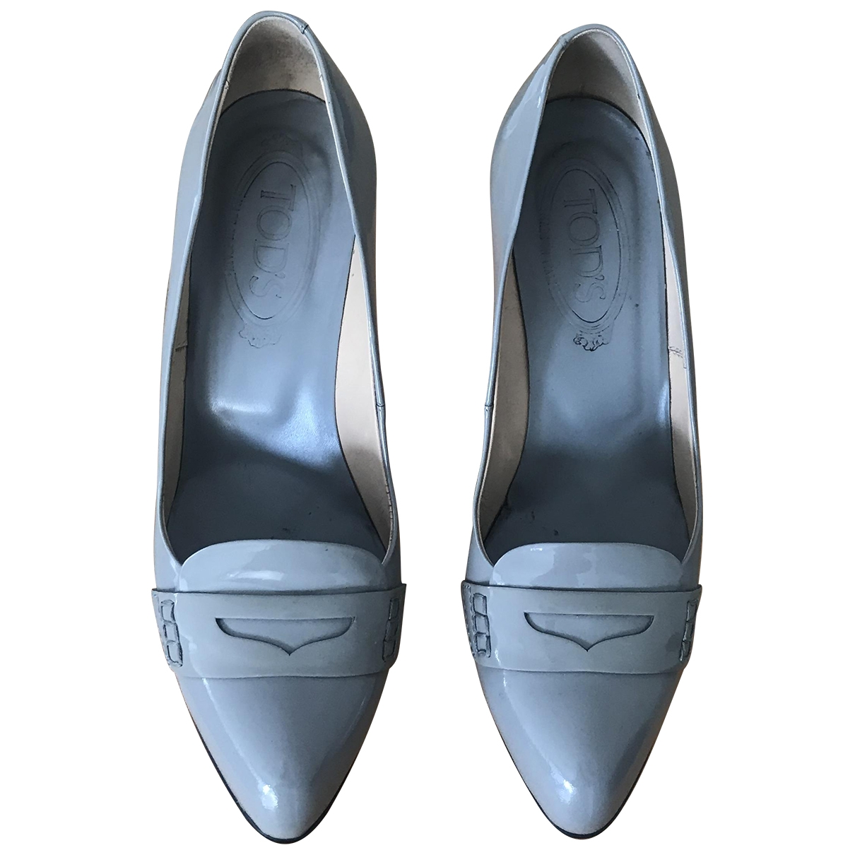 Tod's \N Grey Patent leather Heels for Women 37.5 EU