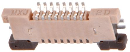 Molex Easy-On 54550 Series 0.5mm Pitch 8 Way Right Angle FPC Connector, ZIF Top Contact (5)
