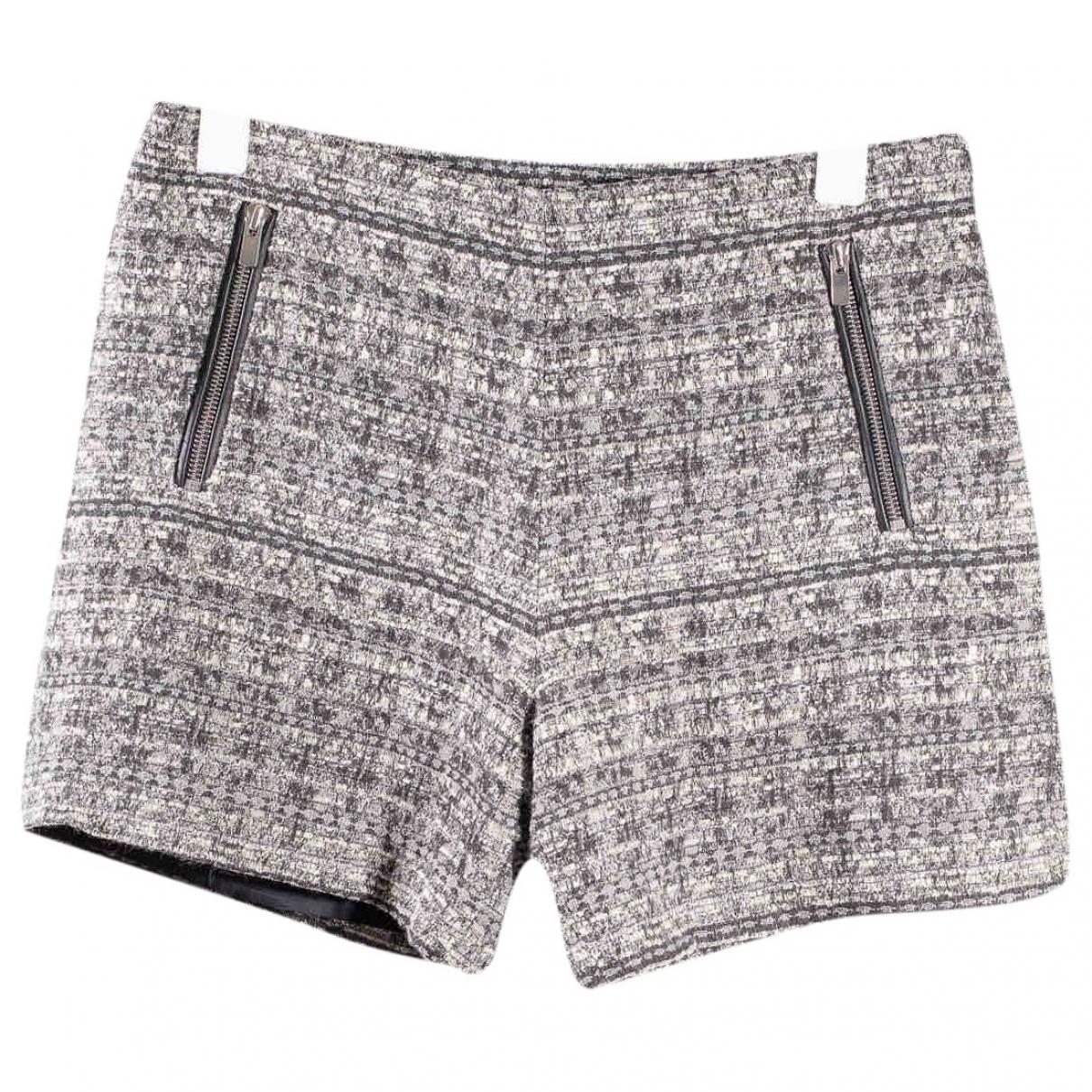 Claudie Pierlot \N Grey Wool Shorts for Women 38 FR
