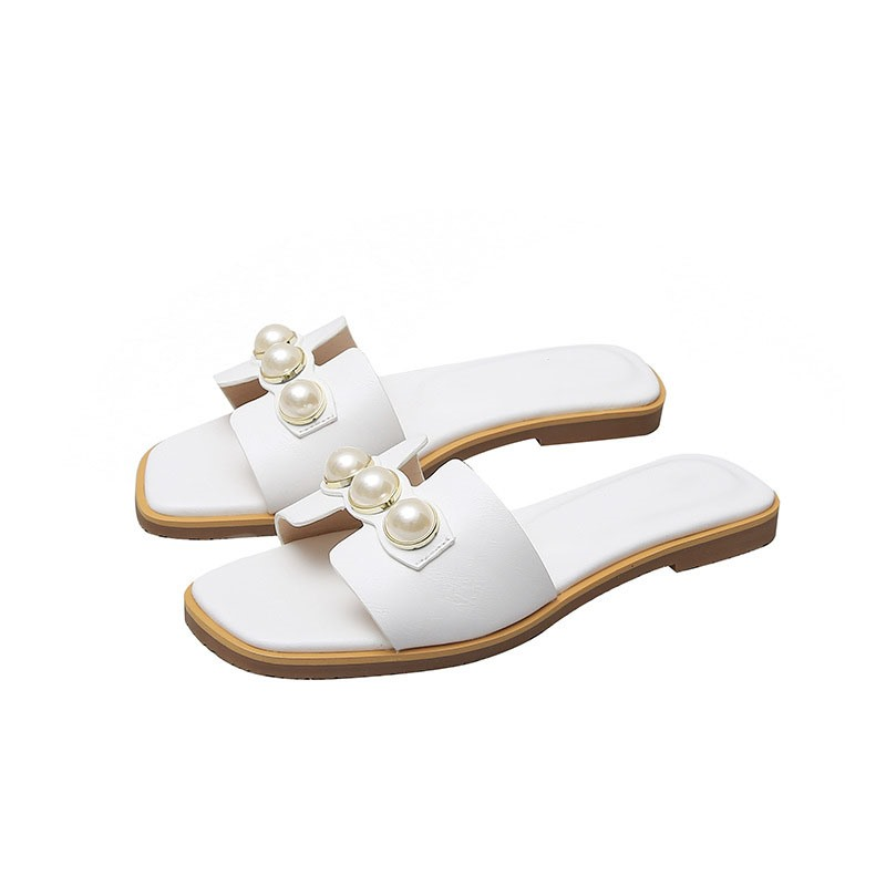 Ericdress Beads Flip Flop Slip-On Plain Slippers