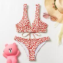 Allover Print Bikini Swimsuit