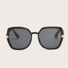 Men Metal Decor Sunglasses