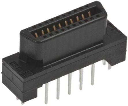 Hirose , FX2 1.27mm Pitch 40 Way 2 Row Straight PCB Socket, Through Hole, Solder Termination