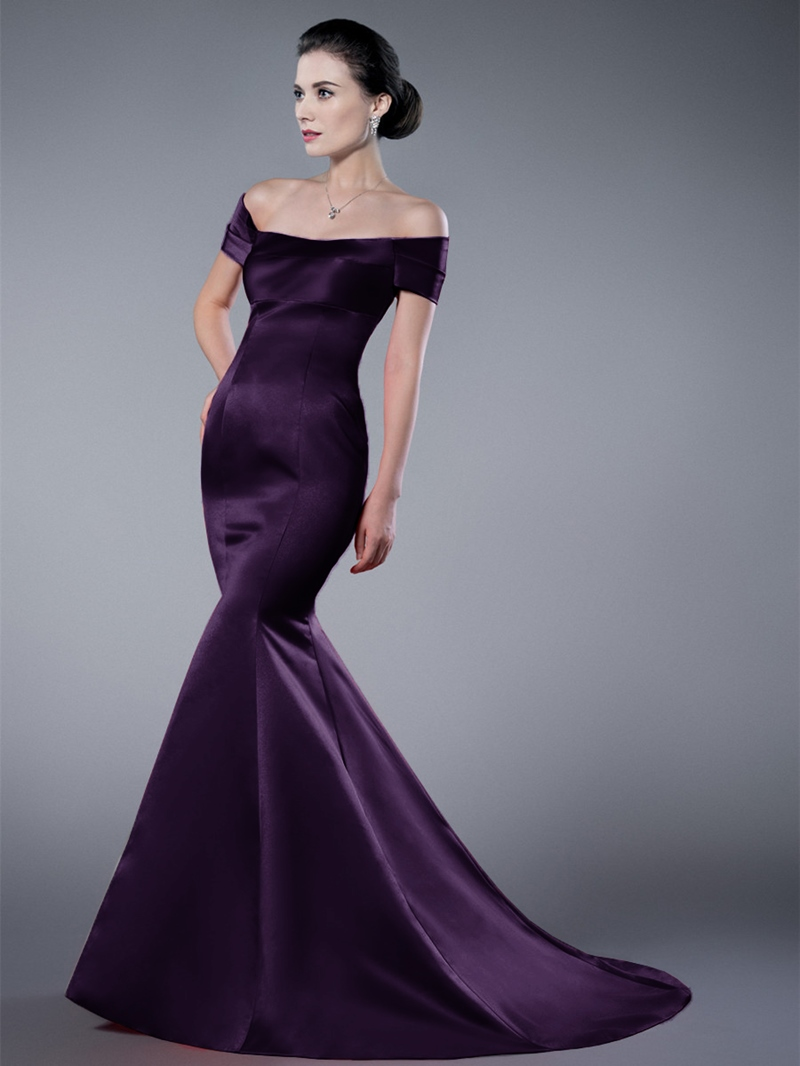 Ericdress Off-the-Shoulder Zipper-Up Mermaid/Trumpet Evening Dress