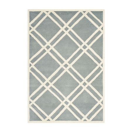 Safavieh Alannis Geometric Hand Tufted Wool Rug, One Size , Blue