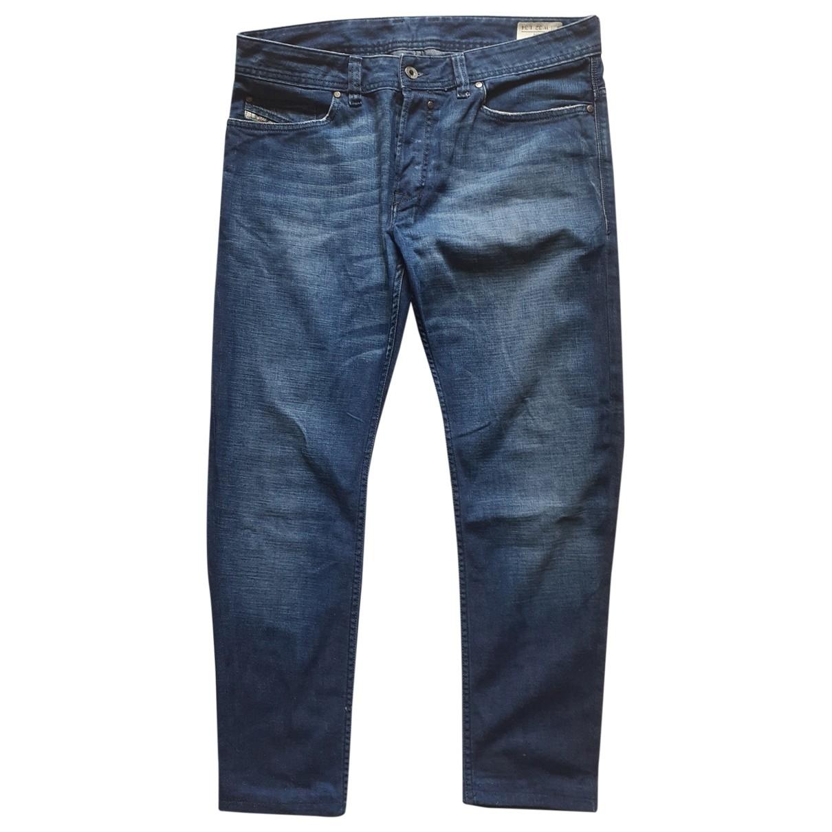 Diesel \N Blue Cotton Trousers for Men 32 UK - US