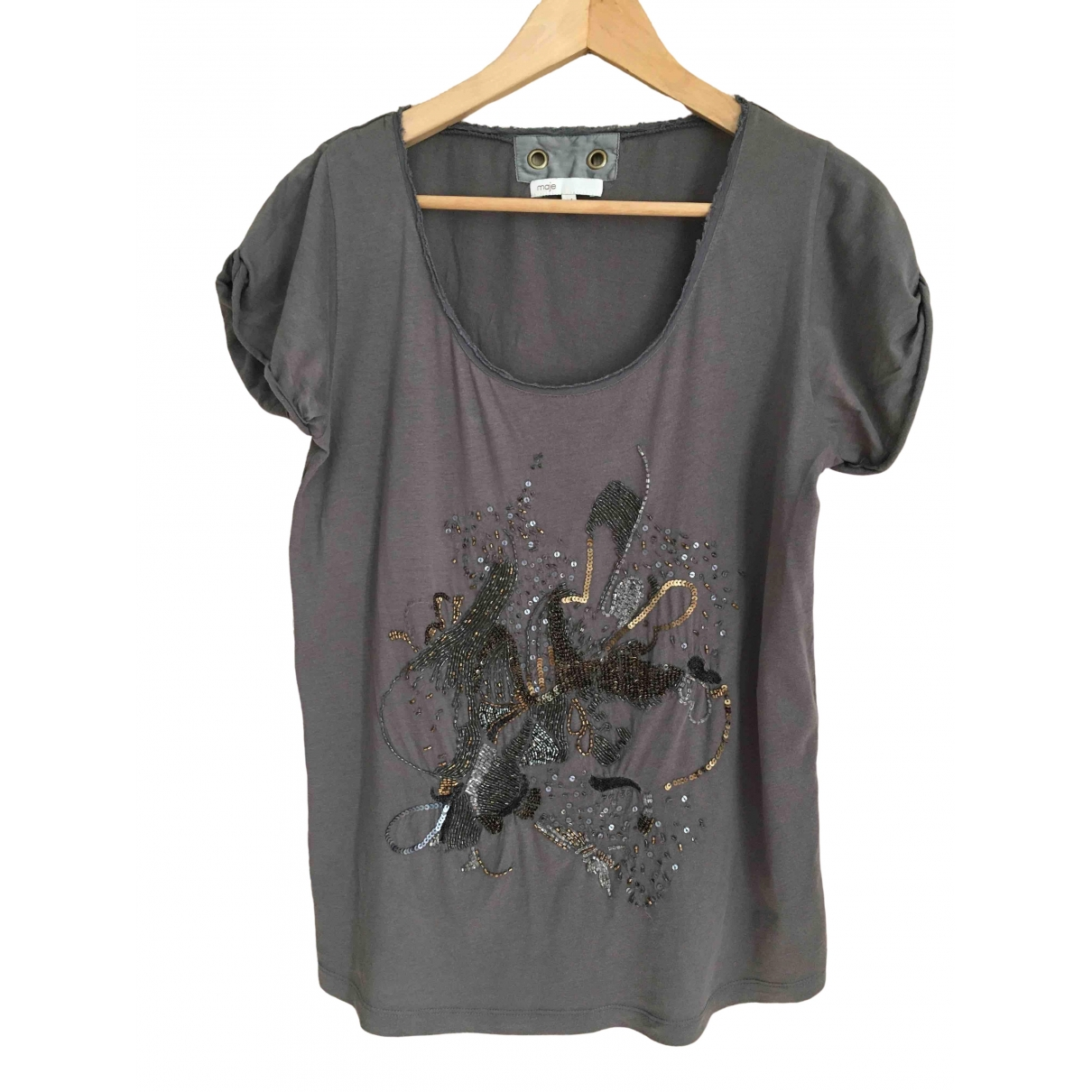 Maje \N Anthracite Cotton  top for Women M International