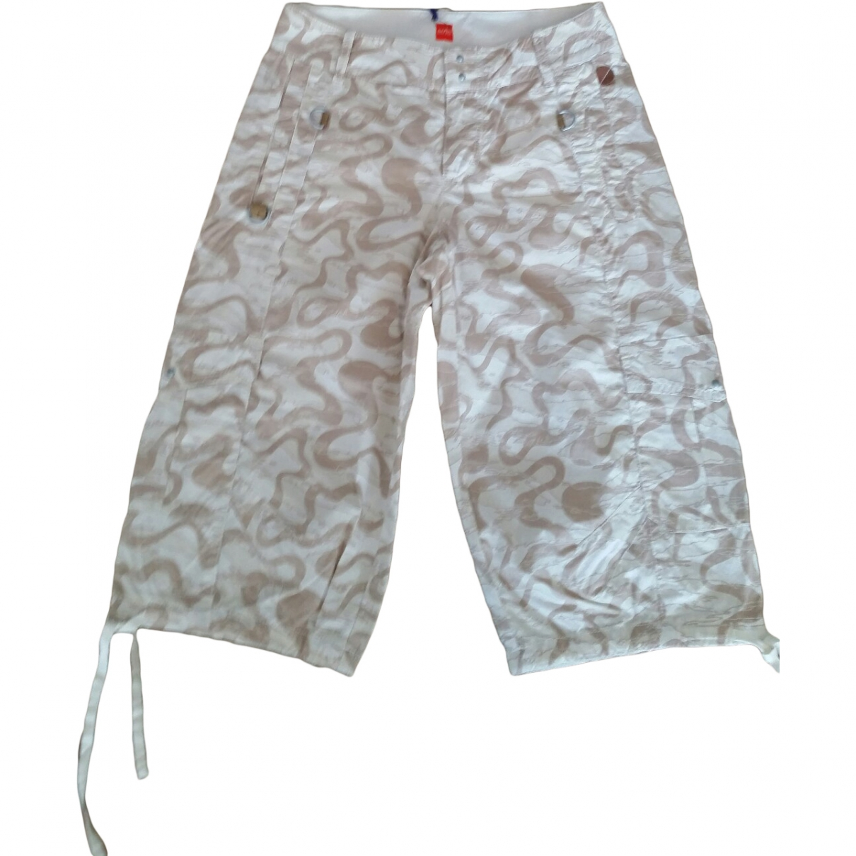 Boss \N Multicolour Cotton Trousers for Women 34 FR