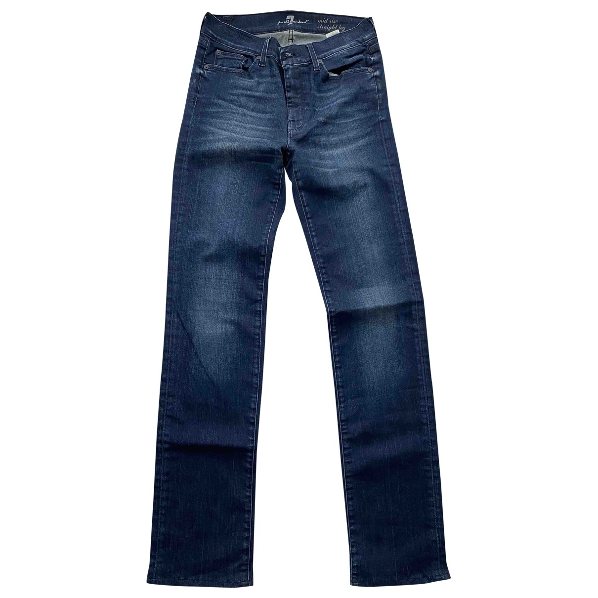 7 For All Mankind \N Navy Cotton Jeans for Women 28 US