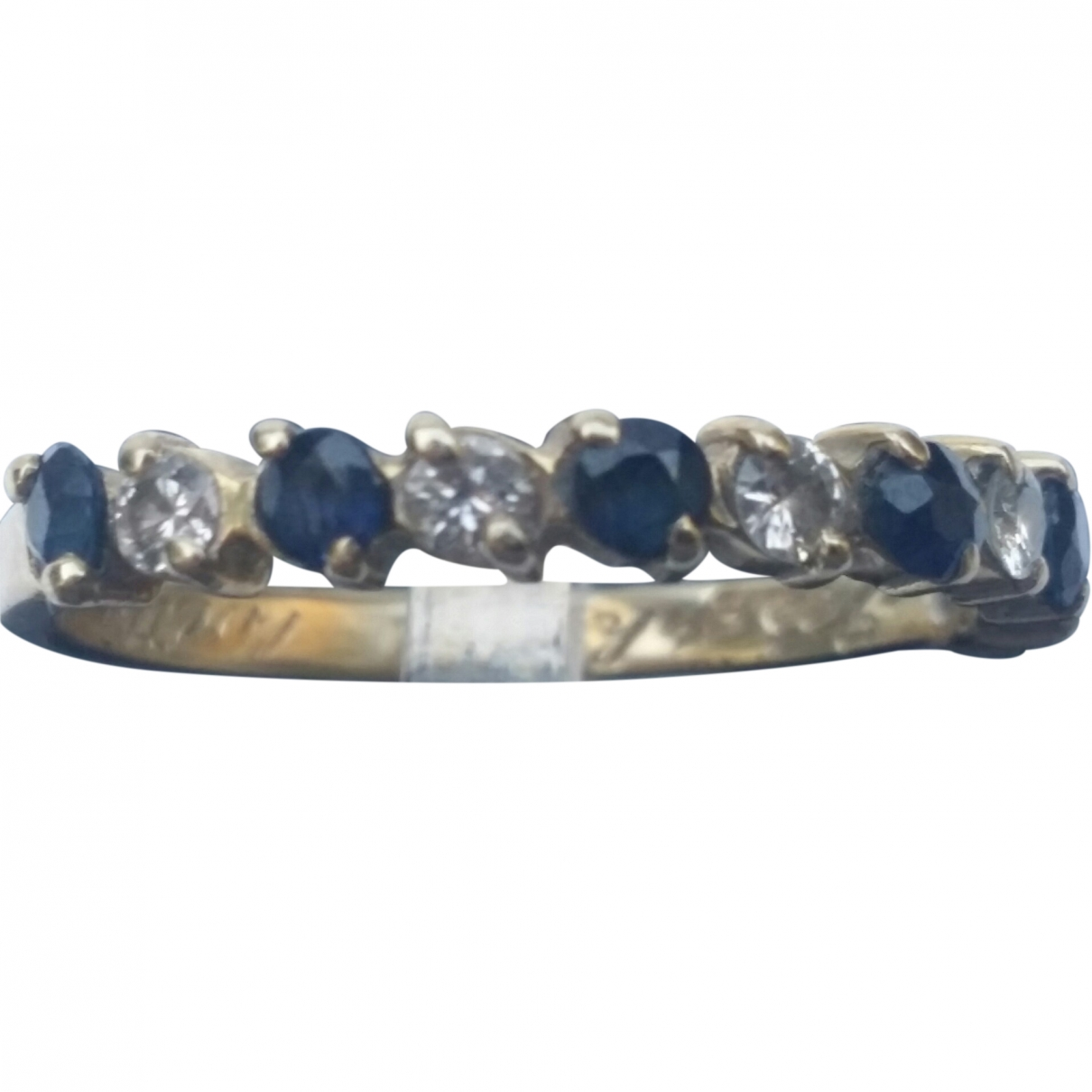 Non Signé / Unsigned Alliance Blue Yellow gold ring for Women \N