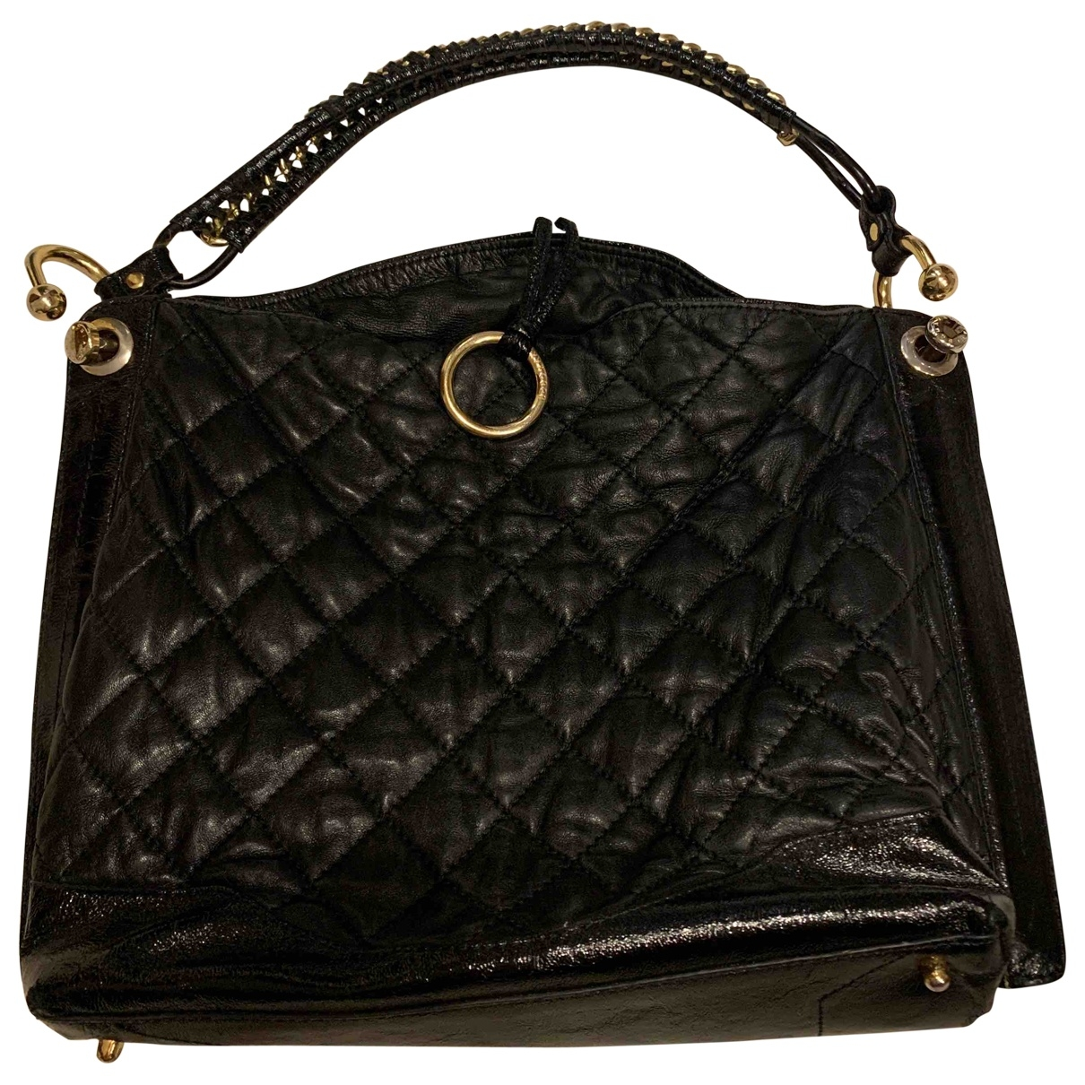 Bcbg Max Azria \N Black Leather handbag for Women \N