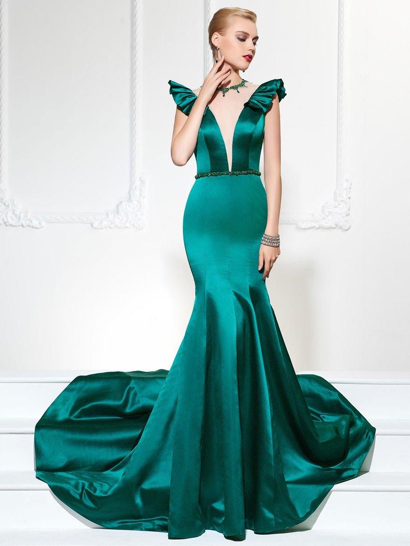 Ericdress Vintage Cap Sleeve Mermaid Evening Dress With Beadings