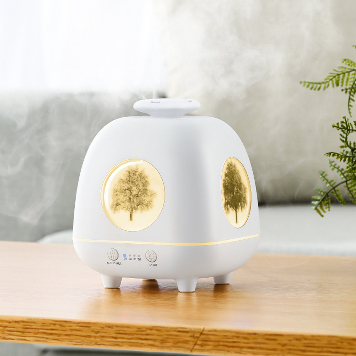 Ultrasonic Air Humidifier Essential Oil Diffuser Led Lights Electric Aromatherapy USB Humid