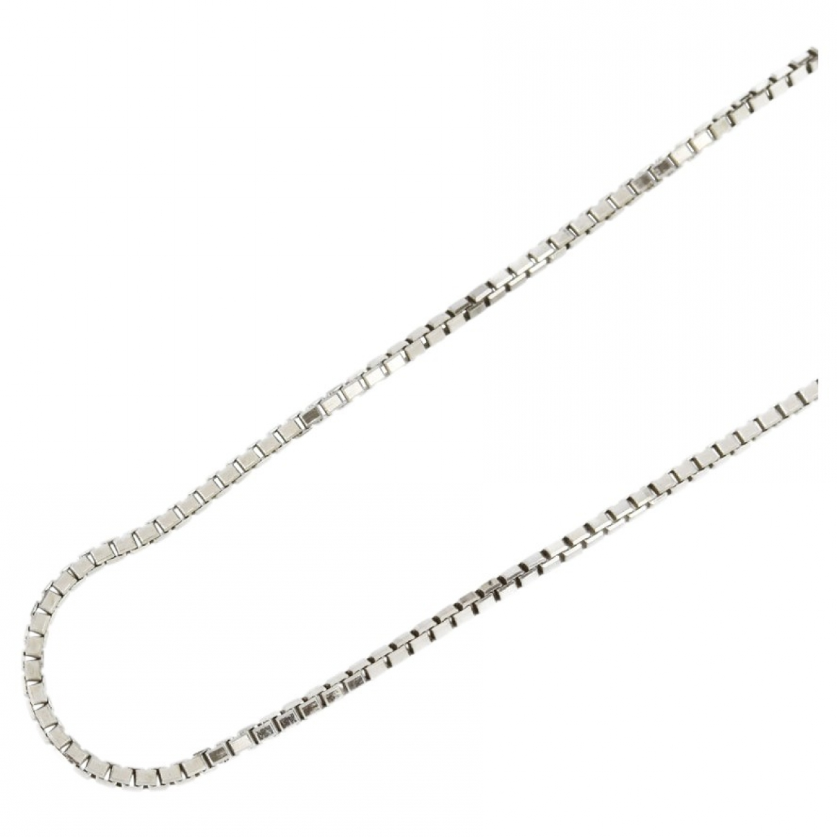 Non Signé / Unsigned \N Silver White gold necklace for Women \N
