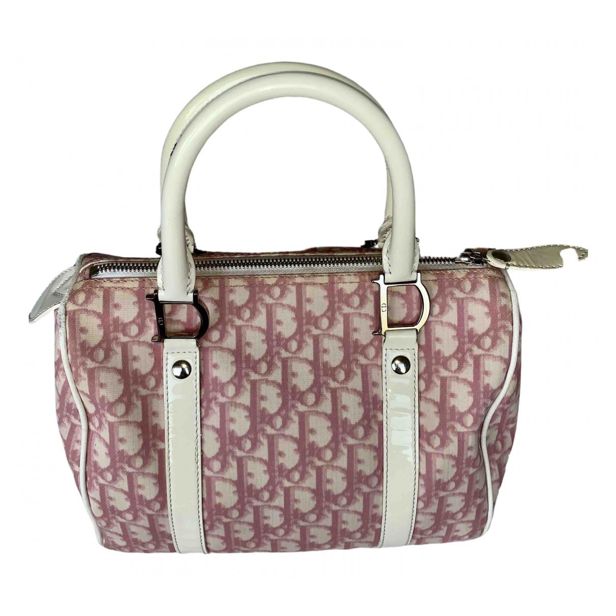 Dior Bowling Pink Cloth handbag for Women \N