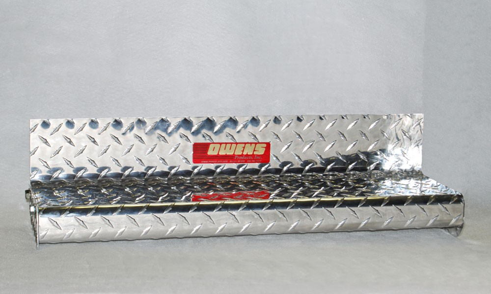 Owens Products OC84102X Running Boards Classicpro Series Diamond 4 Inch 92-14 Ford E-Series 4 Inch Riser 138 Inch Aluminum