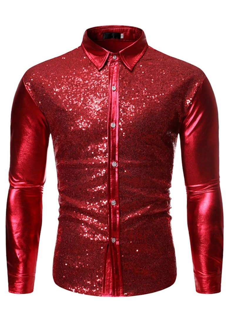 Ericdress Lapel Plain Button Single-Breasted Spring Men's Shirt