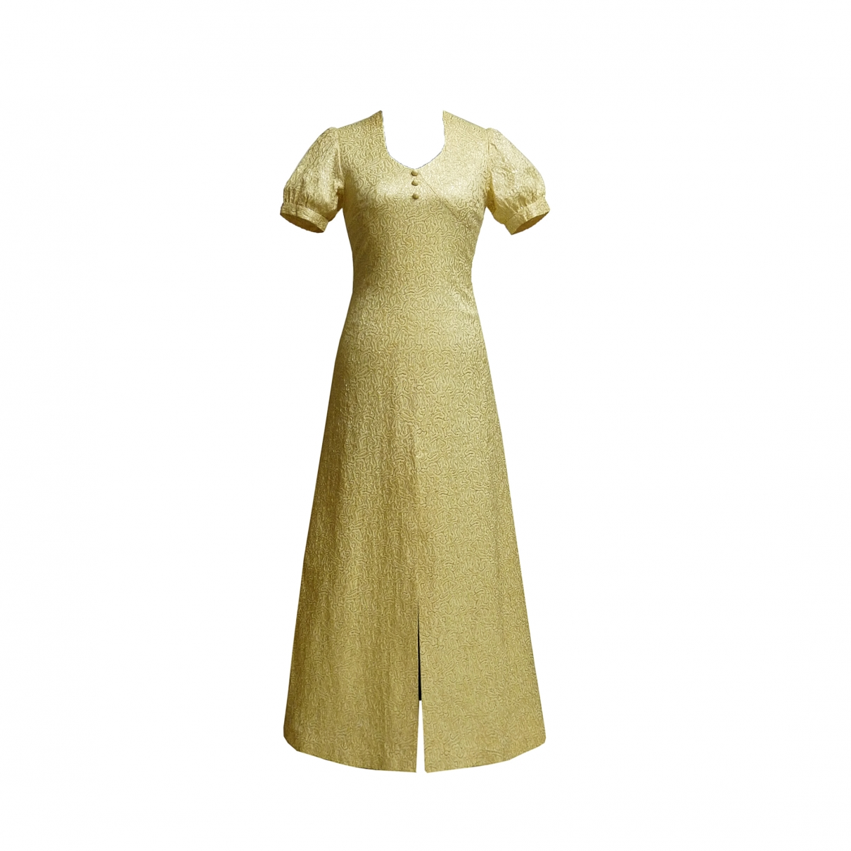 Non Signé / Unsigned \N Gold dress for Women S International