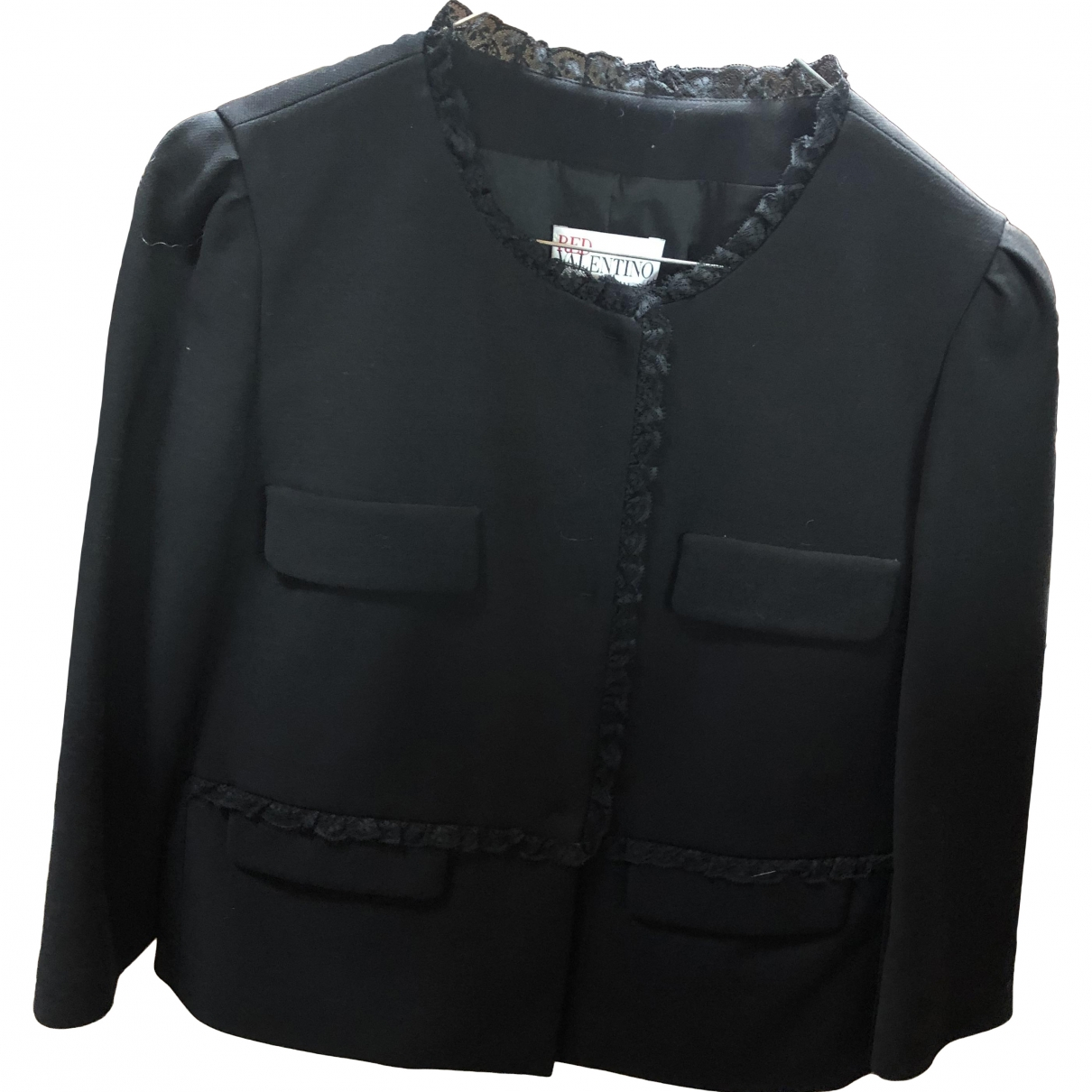 Red Valentino Garavani \N Black jacket for Women 44 IT