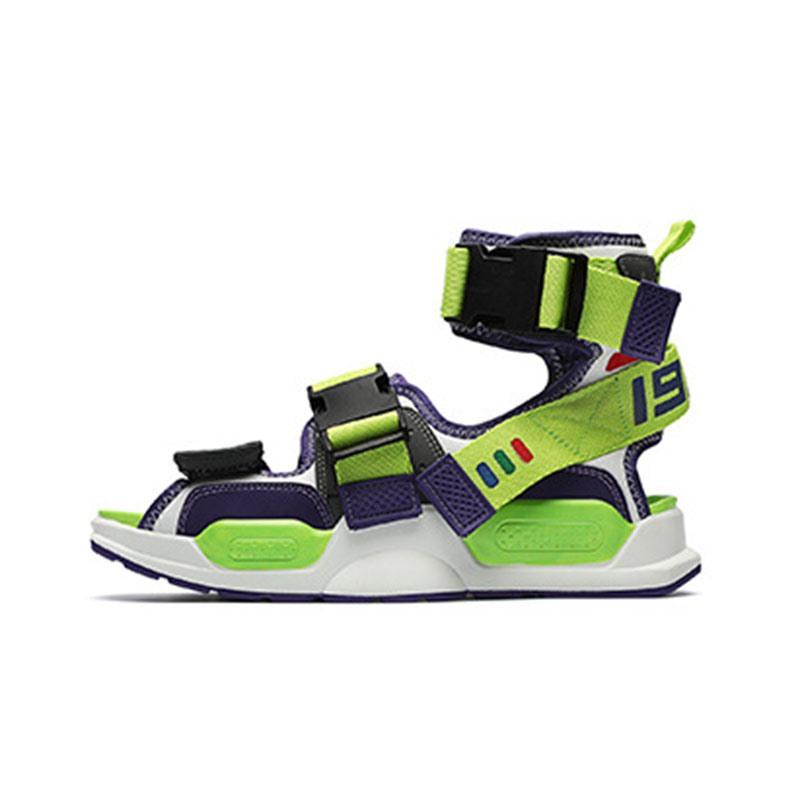 Ericdress Flat Heel Buckle Patchwork Open Toe Sandals