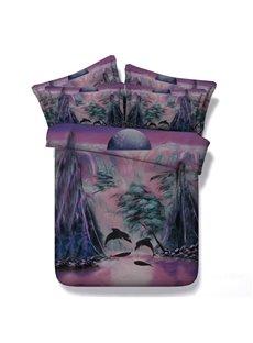Dolphin Bay Digital Printing 5-Piece Comforter Sets