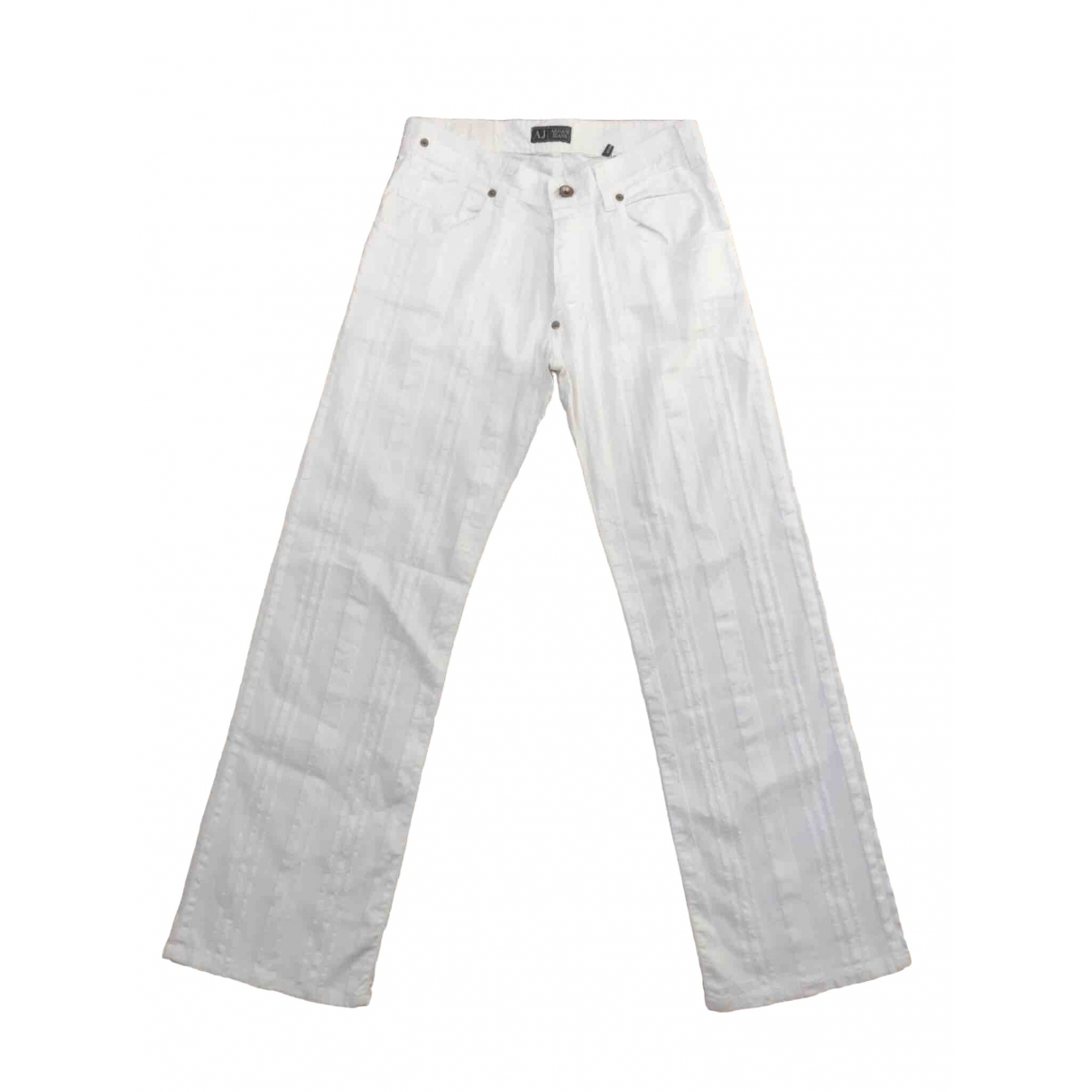 Armani Jeans \N White Linen Trousers for Women XS International