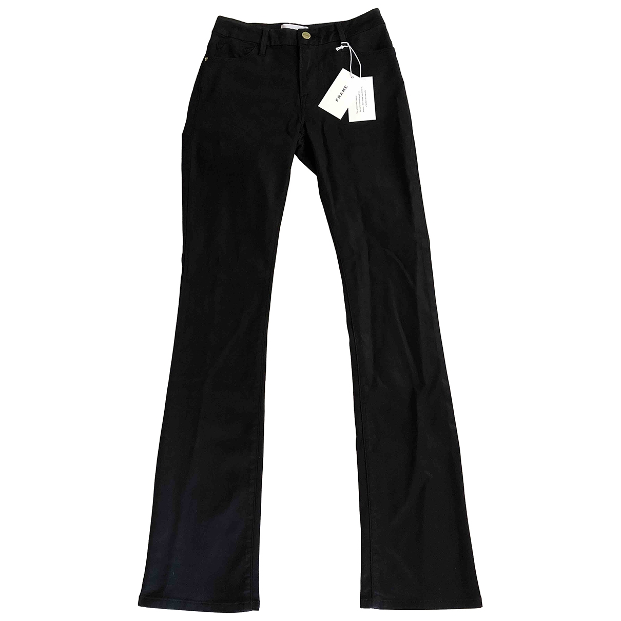 Frame Denim \N Black Cotton Jeans for Women 25 US