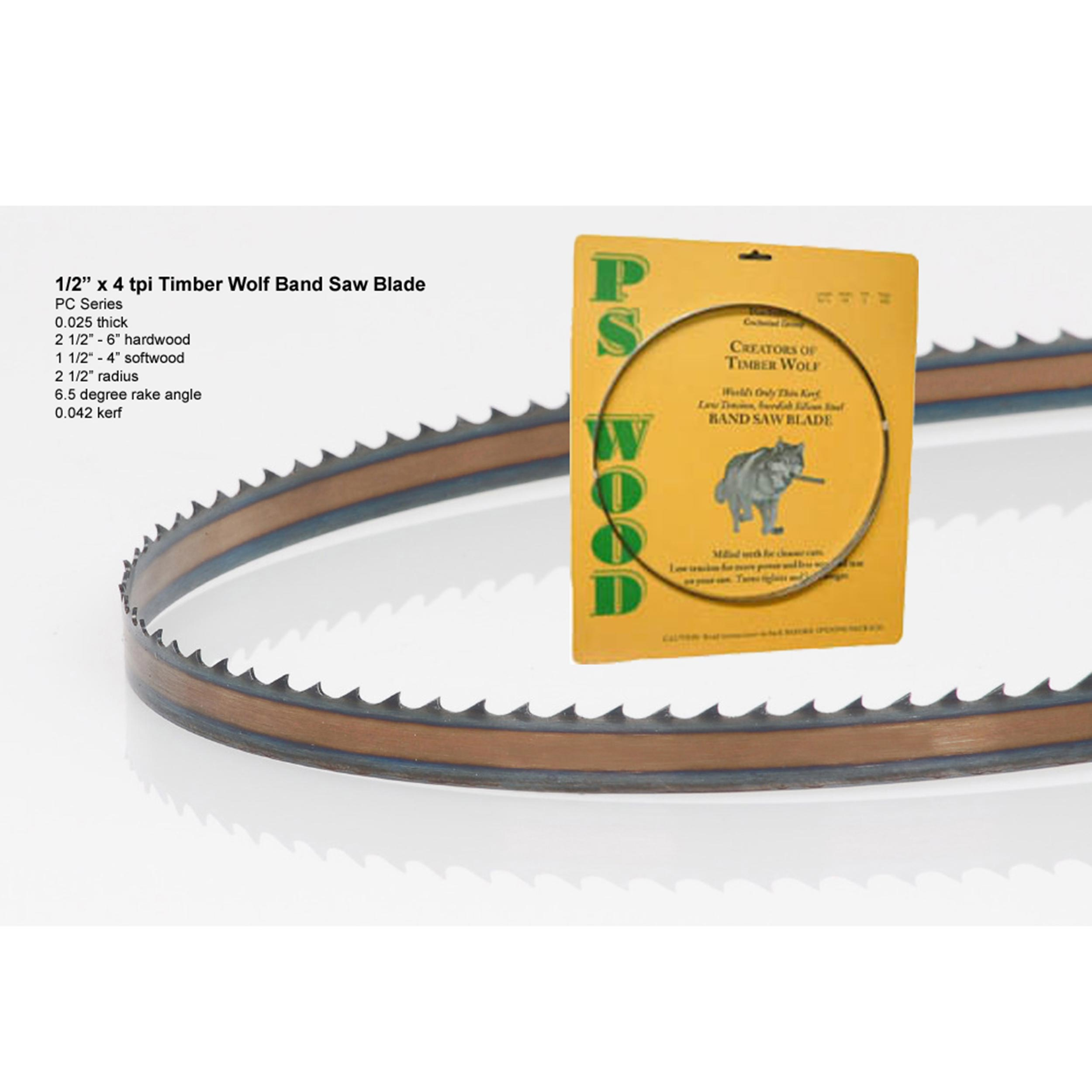 Bandsaw Blade 80 x 1/2 x 4 TPI Positive Claw