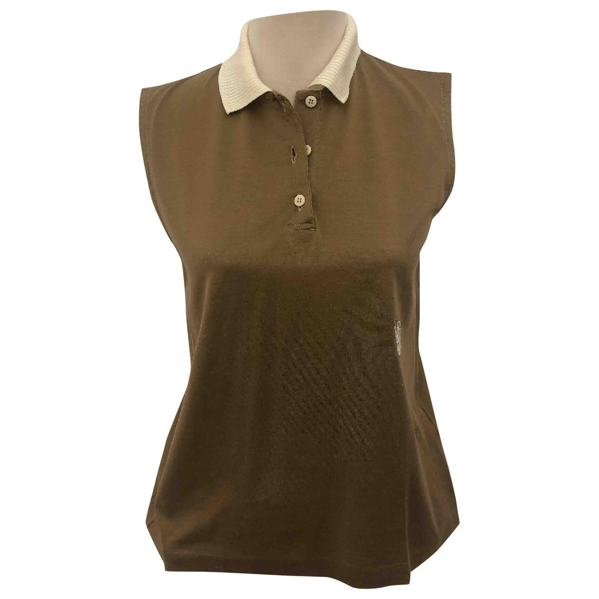 Valentino Garavani \N Brown Cotton  top for Women 46 IT